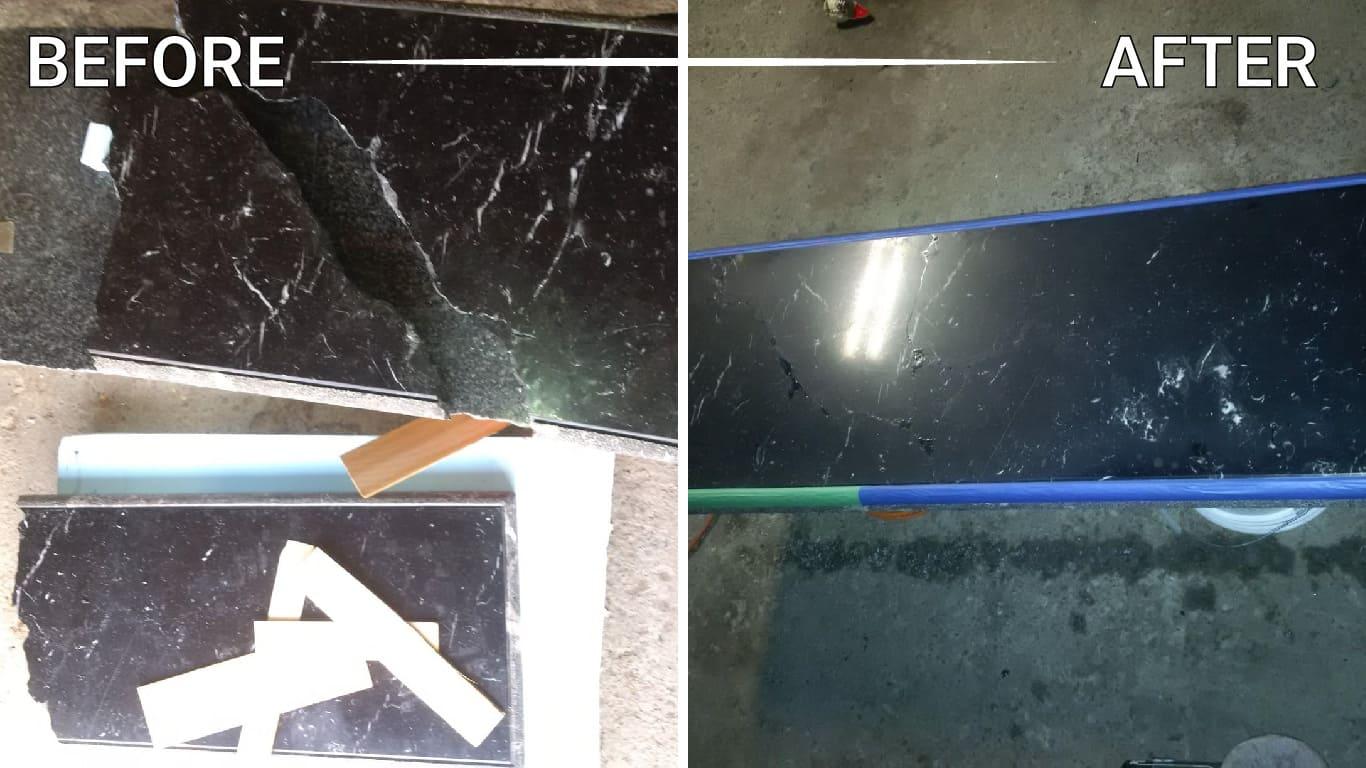 install stone slabs mosaic floor shower table vanity backsplash foyer washroom