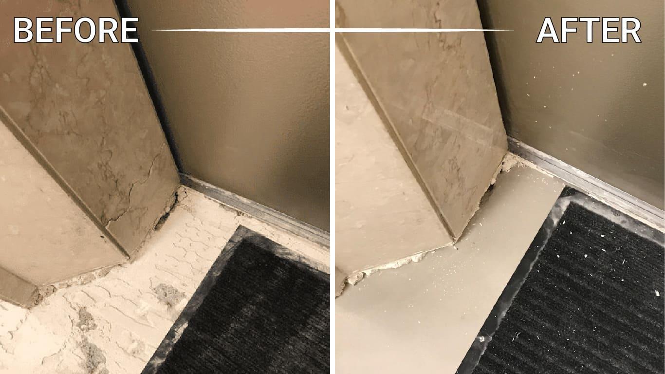 install travertine slabs mosaic floor shower table vanity backsplash foyer washroom