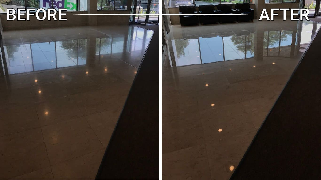 marble foyer polishing restoration refinishing repair cleaning sealing installation