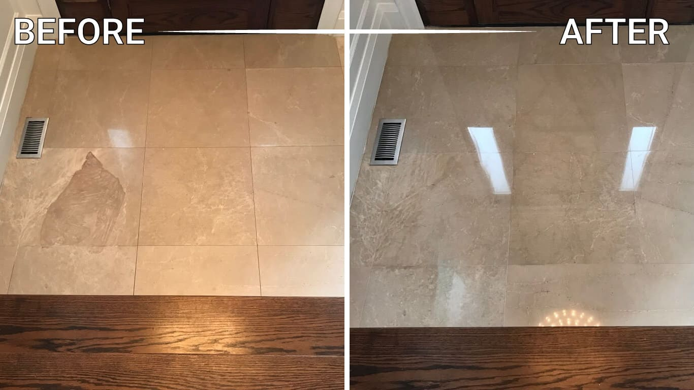 marble tile polishing restoration refinishing repair cleaning sealing installation