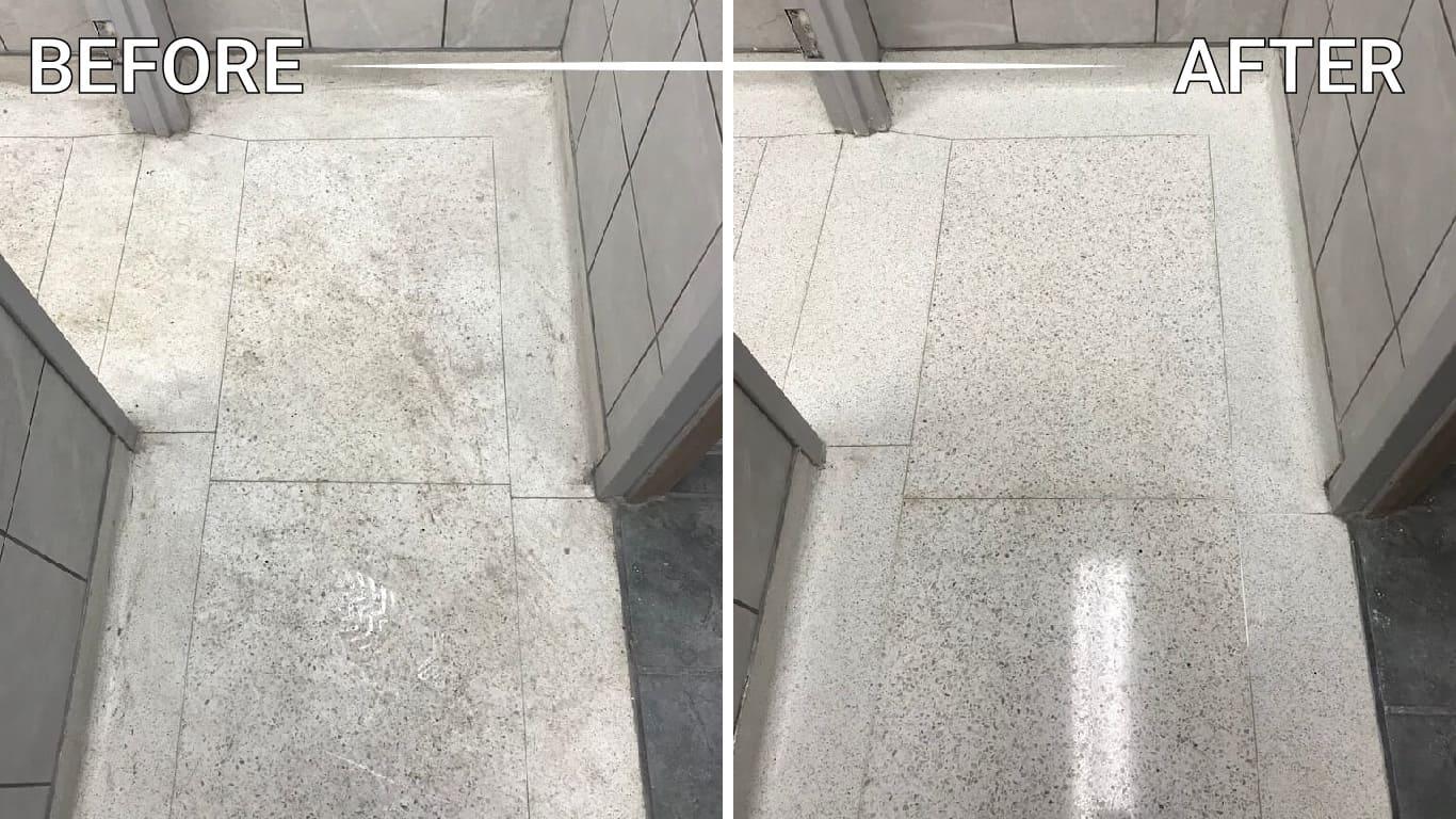 refinish natural stone floor counter countertop vanity table backsplash