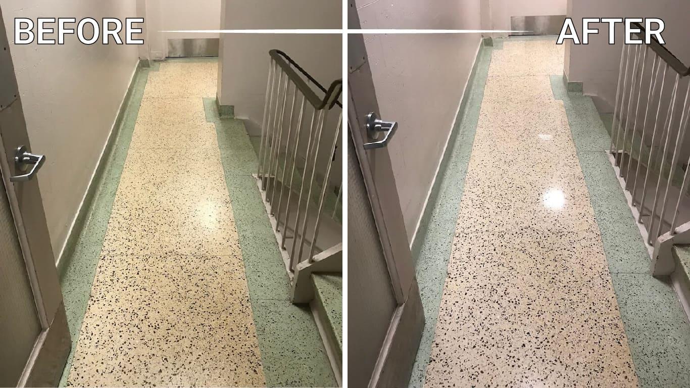 refinish stone floor counter countertop vanity table backsplash