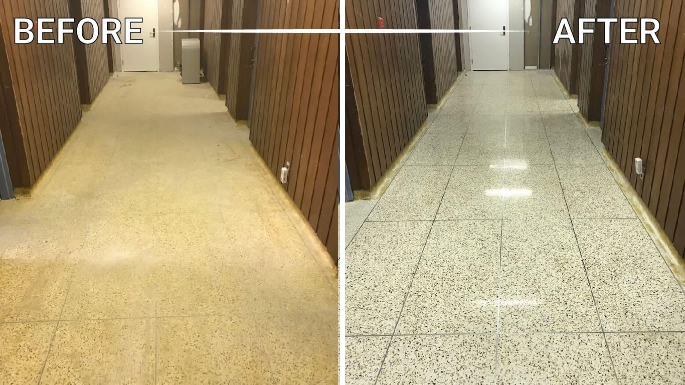restore limestone floor counter countertop vanity table backsplash