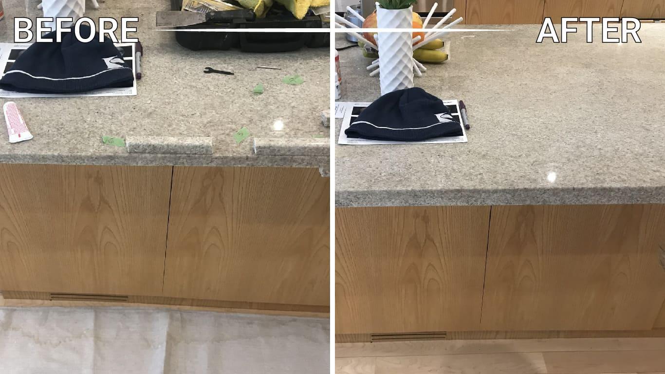 seal limestone floor counter countertop vanity table backsplash