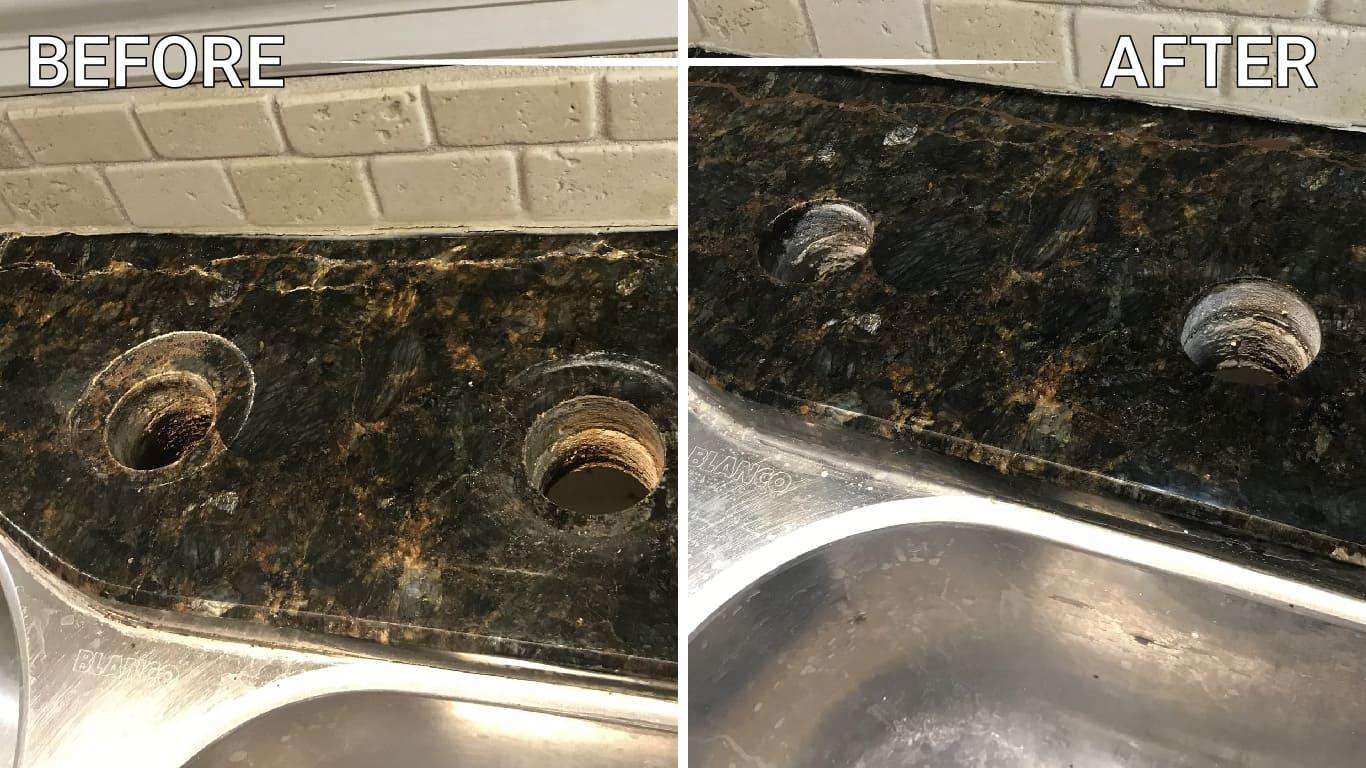 seal natural stone floor counter countertop vanity table backsplash