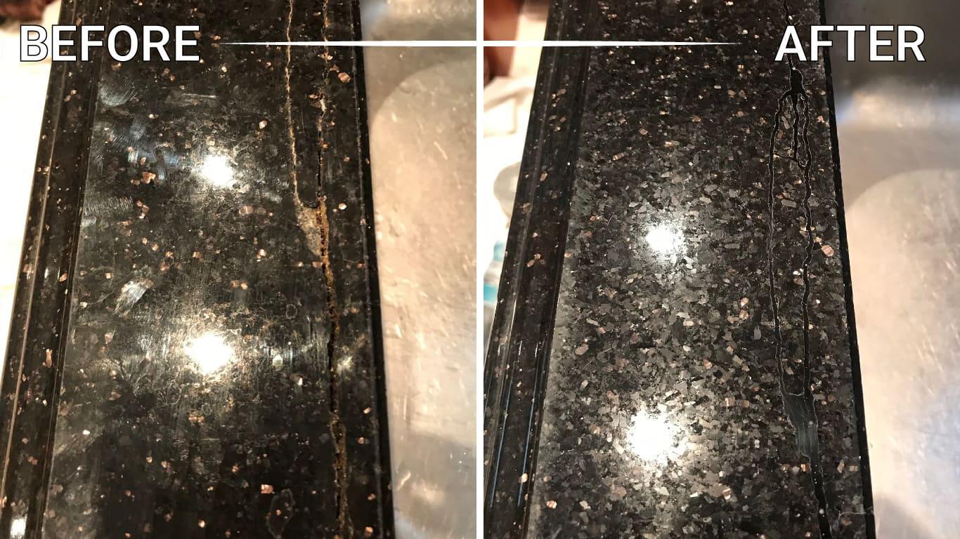 seal stone floor counter countertop vanity table backsplash